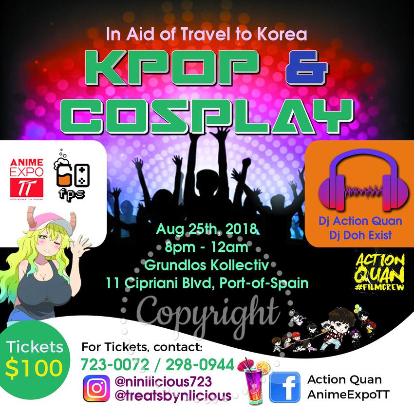 KPop & Cosplay - Event Flyer