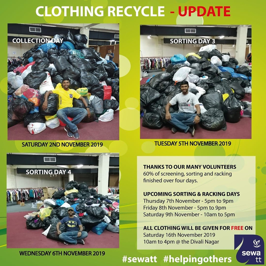 Nov 16th 2019 - Clothing Recycle Update