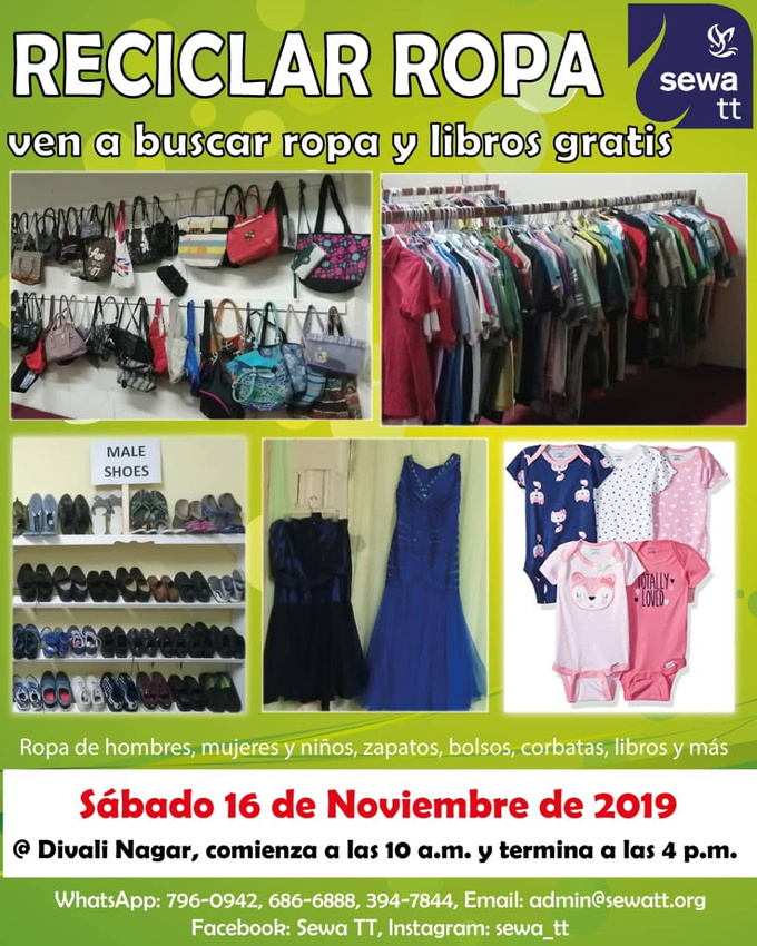 Clothing Recycle Poster in Spanish 2019